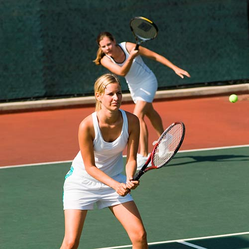 Tennis answer: DOUBLES