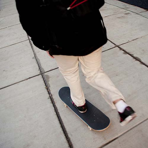 Transport answer: SKATEBOARD