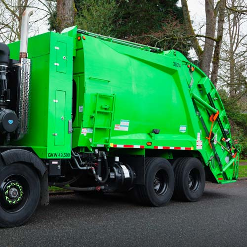 Transport answer: GARBAGE TRUCK