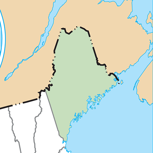 US States answer: MAINE