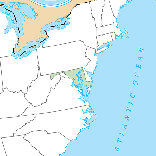 US States answer: MARYLAND