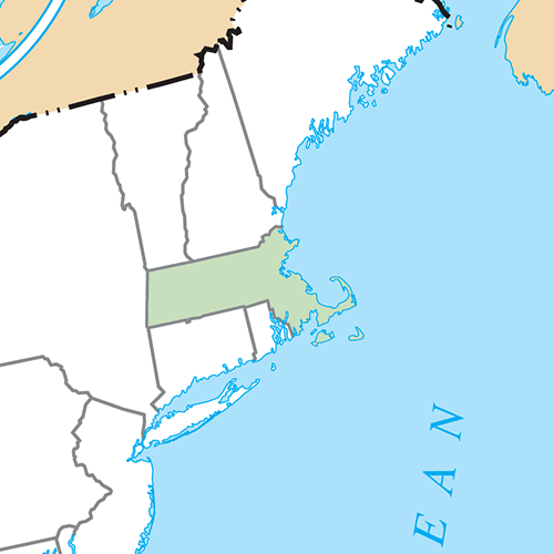 US States answer: MASSACHUSETTS