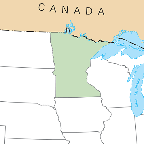 US States answer: MINNESOTA