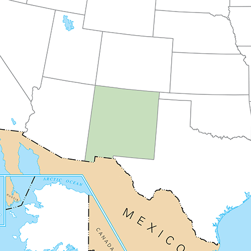 US States answer: NEW MEXICO