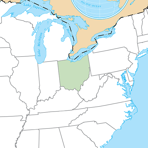 US States answer: OHIO