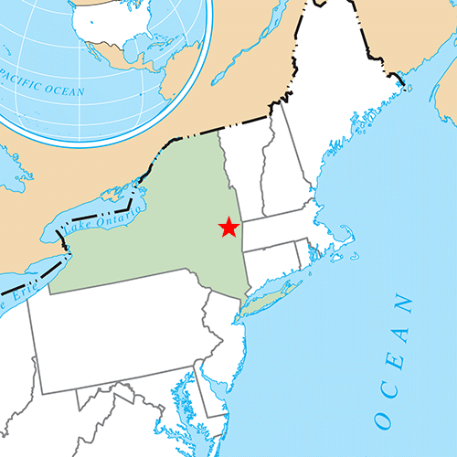 US States answer: ALBANY