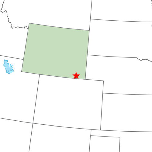 US States answer: CHEYENNE