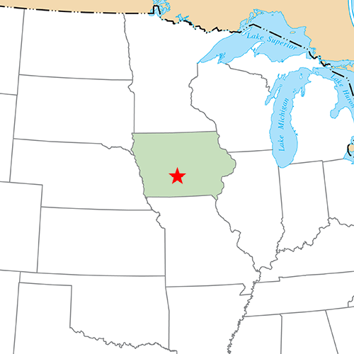 US States answer: DES MOINES