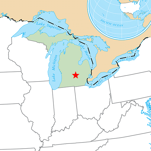 US States answer: LANSING