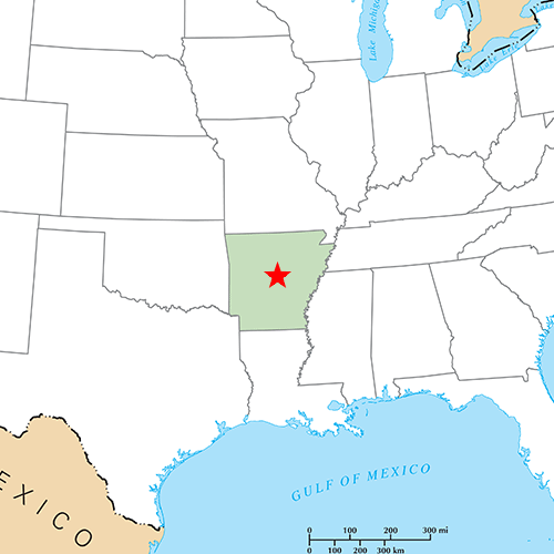 US States answer: LITTLE ROCK