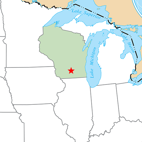 US States answer: MADISON