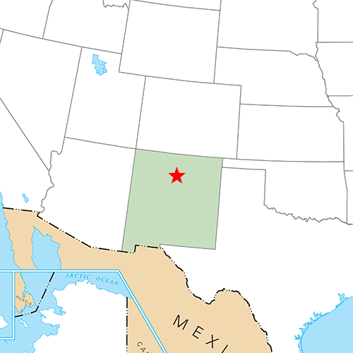 US States answer: SANTA FE