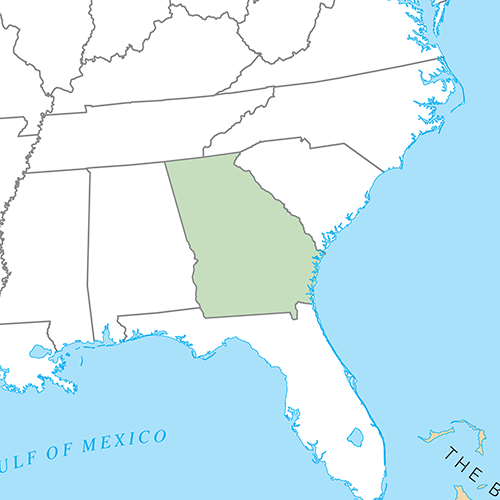 US States answer: GEORGIA