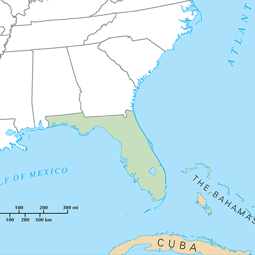 US States answer: FLORIDA