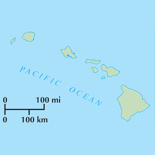 US States answer: HAWAII