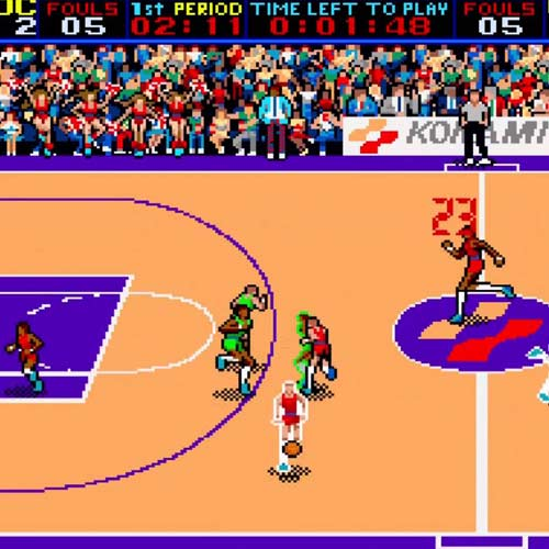 Video Games 2 answer: DOUBLE DRIBBLE