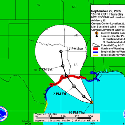 Weather answer: HURRICANE PATH