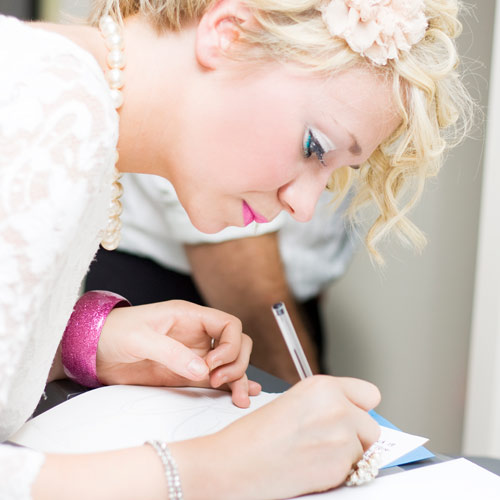 Weddings answer: GUESTBOOK
