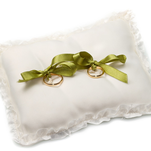 Weddings answer: RING PILLOW