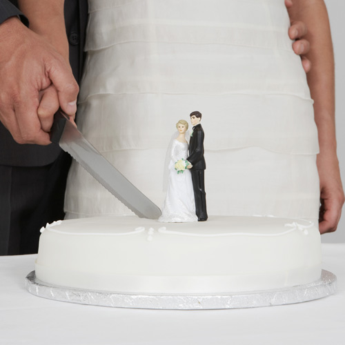 Weddings answer: CUTTING THE CAKE