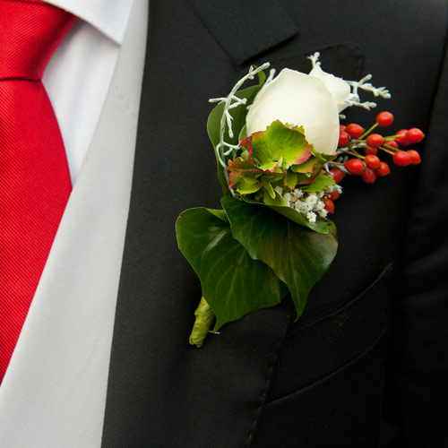 Weddings answer: CORSAGE