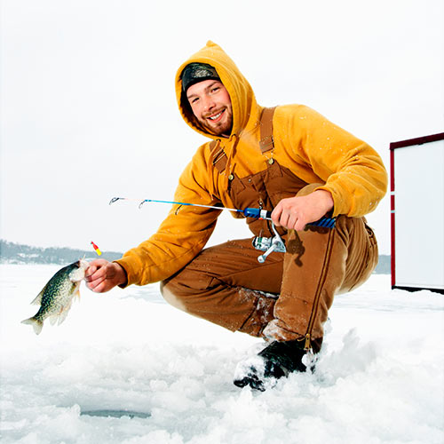 Winter answer: ICE FISHING
