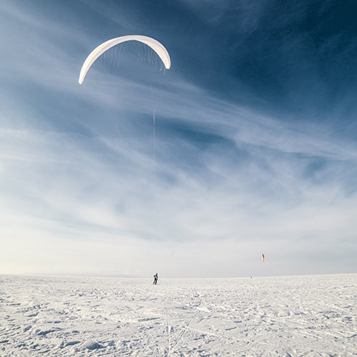 Winter answer: SNOWKITING
