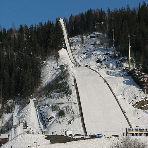 Winter Sports answer: SKI JUMPING HILL