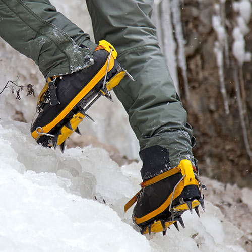 Winter Sports answer: CRAMPONS