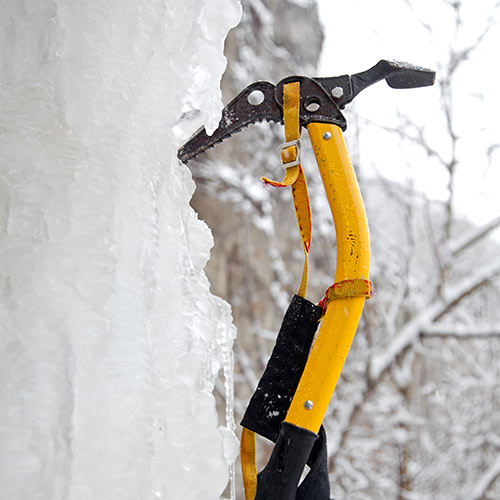 Winter Sports answer: ICE AXE