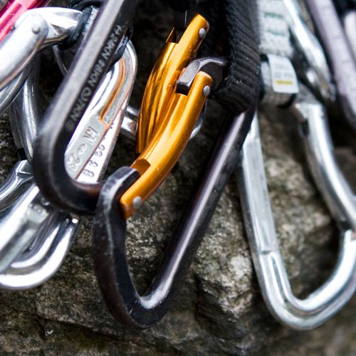 Winter Sports answer: CARABINERS