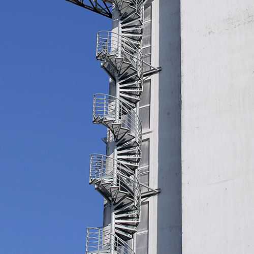 Architecture answer: SPIRAL STAIRS