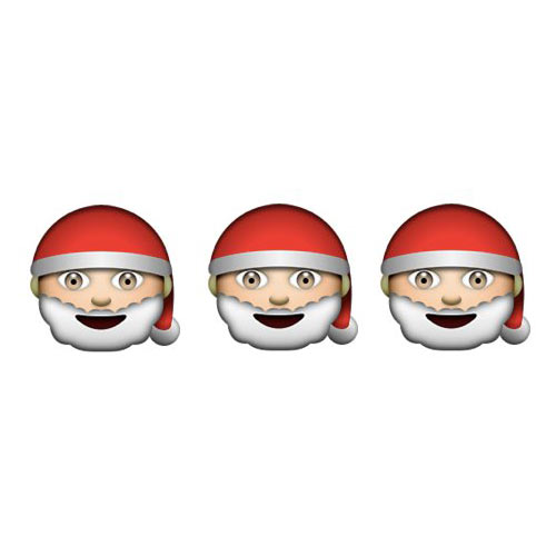 Christmas Emoji answer: HO HO HO