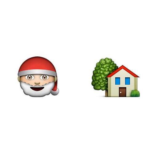 Christmas Emoji answer: SANTAS GROTTO