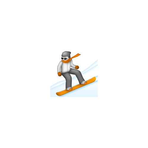 Christmas Emoji answer: SNOWBOARDING