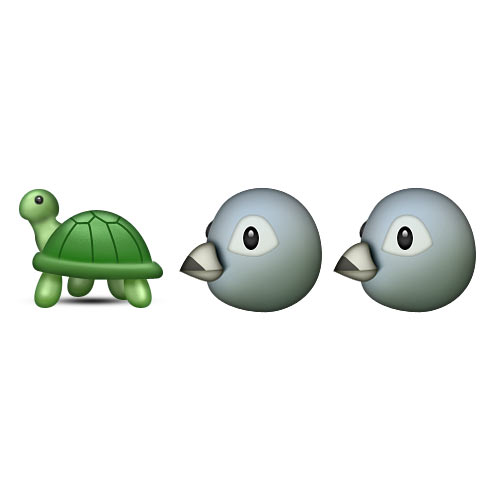 Christmas Emoji answer: TURTLE DOVES