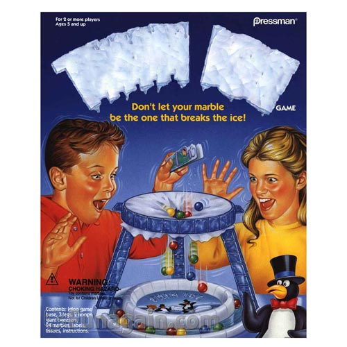 Classic Toys answer: THIN ICE