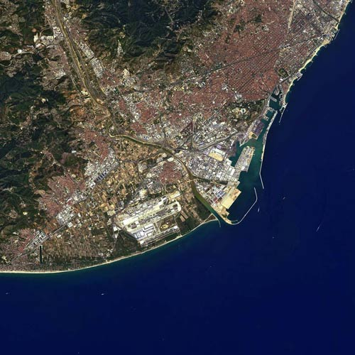 Earth from Above answer: BARCELONA