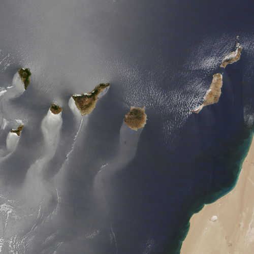 Earth from Above answer: CANARY ISLANDS