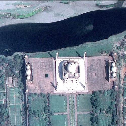 Earth from Above answer: TAJ MAHAL