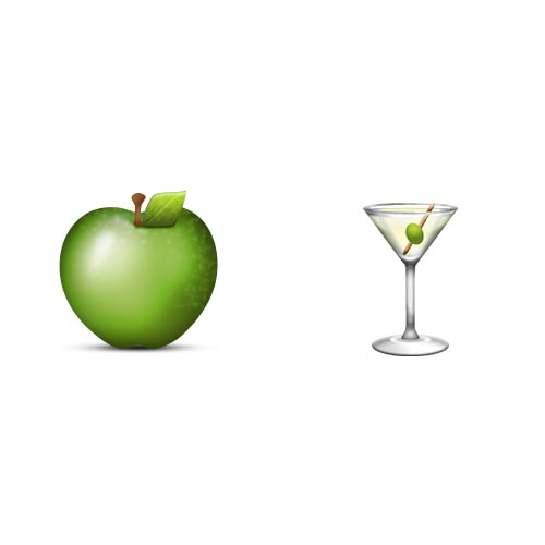 Emoji Quiz 3 answer: APPLETINI