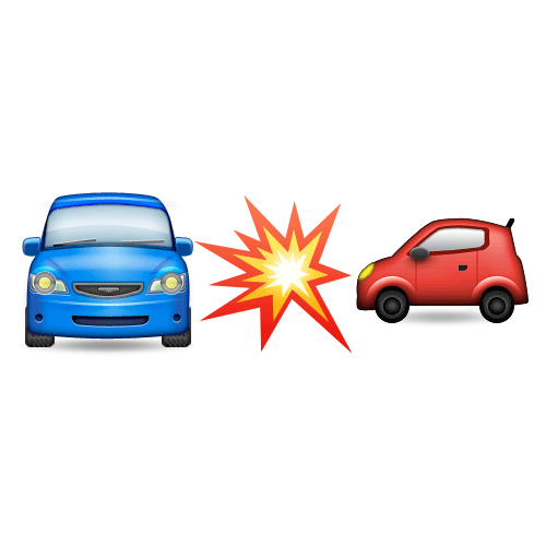 Emoji Quiz 3 answer: CAR CRASH