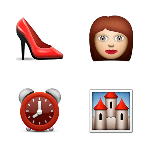 Emoji Quiz 3 answer: CINDERELLA