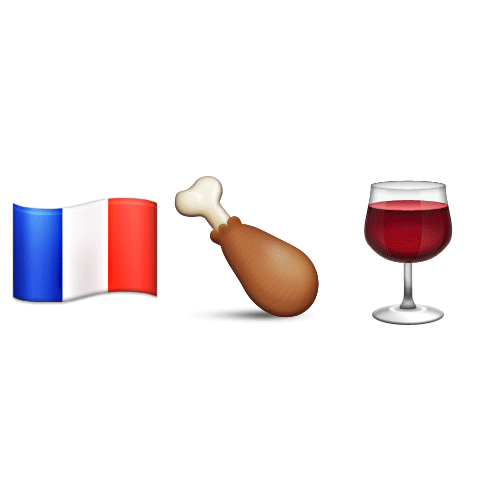 Emoji Quiz 3 answer: COQ AU VIN