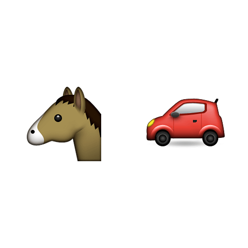 Emoji Quiz 3 answer: HORSEPOWER