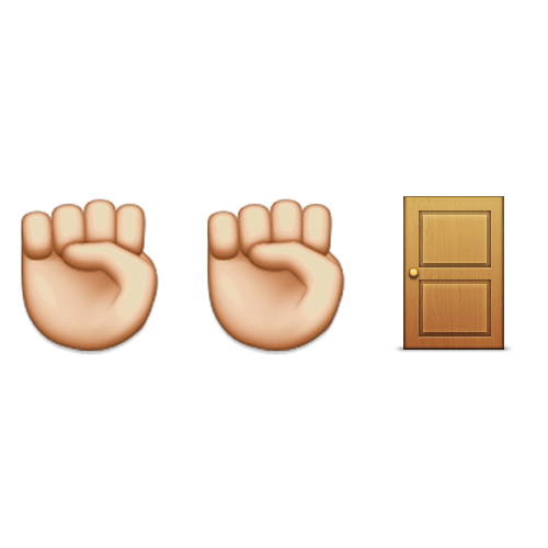 Emoji Quiz 3 answer: KNOCK KNOCK