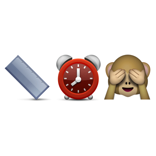 Emoji Quiz 3 answer: LONG TIME NO SEE