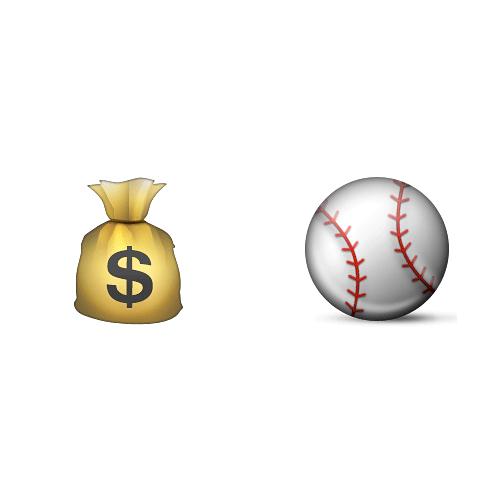 Emoji Quiz 3 answer: MONEYBALL