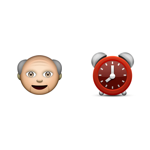 Emoji Quiz 3 answer: OLD FATHER TIME