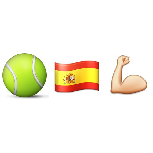 Emoji Quiz 3 answer: RAFAEL NADAL